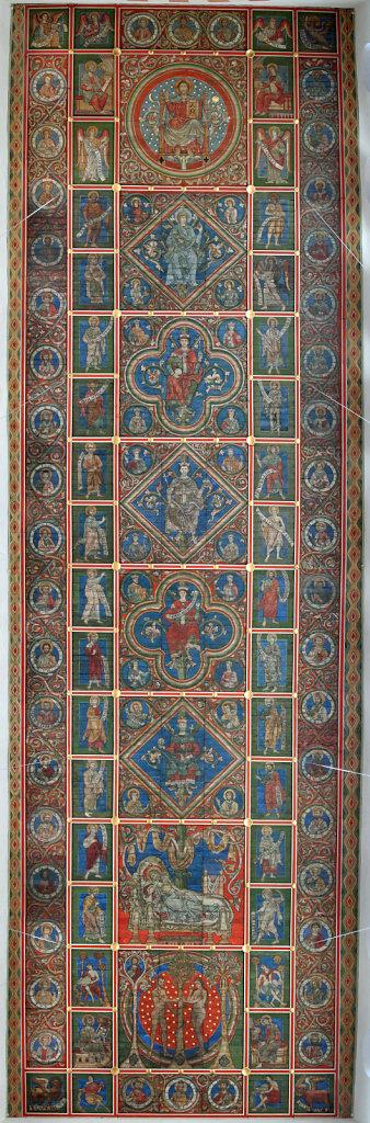 Bemalte Holzdecke der Michaeliskirche in Hildesheim mit dem Jessebaum